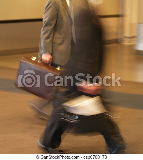 businessmen in a hurry - csp0700170