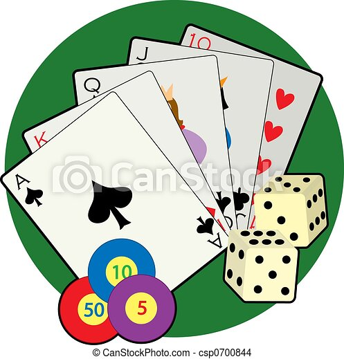 Casino table cards roulette