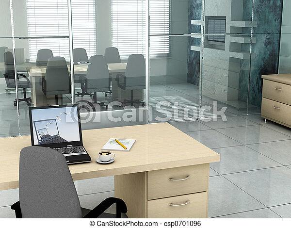 bureau, matin - csp0701096