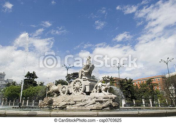 Cibeles Fountain at 60 degrees angle - csp0703625
