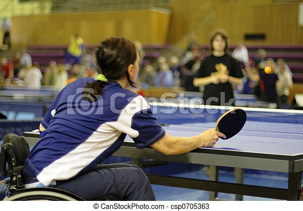 Female ping pong player - csp0705363