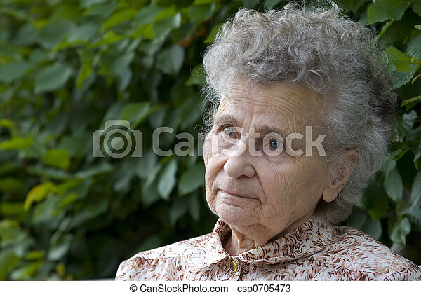 elderly woman - csp0705473