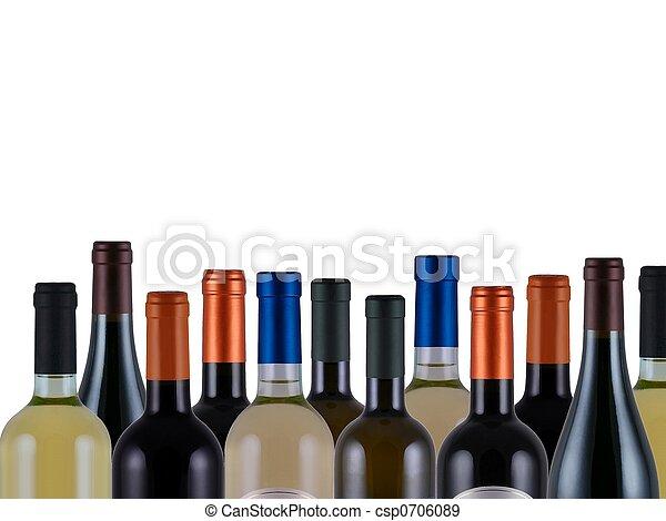 Bottles of wine - csp0706089