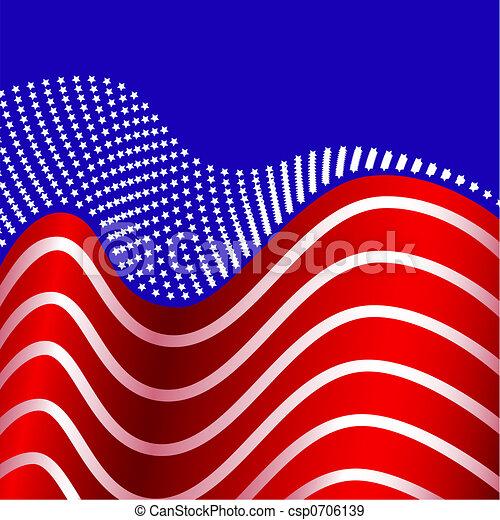 American Flag United States - csp0706139