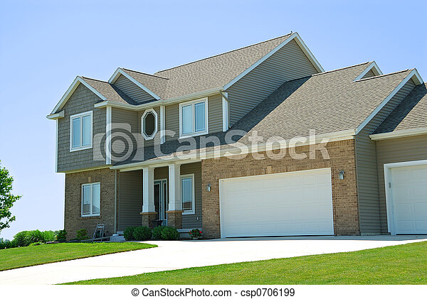 Residential American Two Story House - csp0706199
