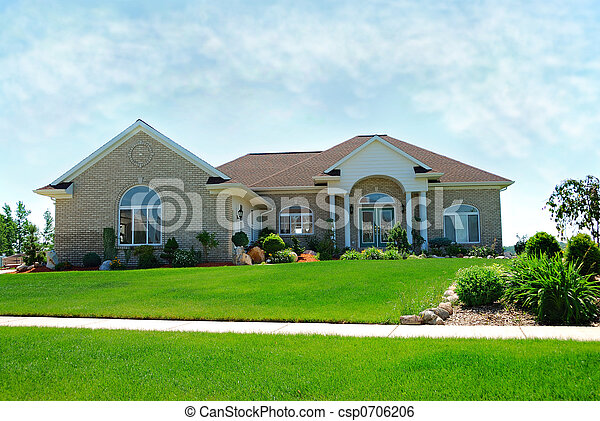 Residential Upscale American House - csp0706206