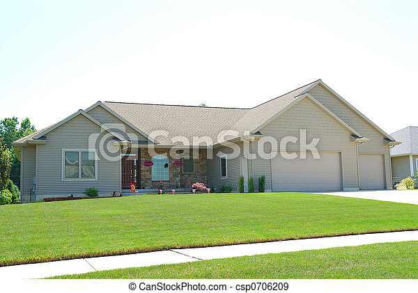 Residential Upscale American House - csp0706209