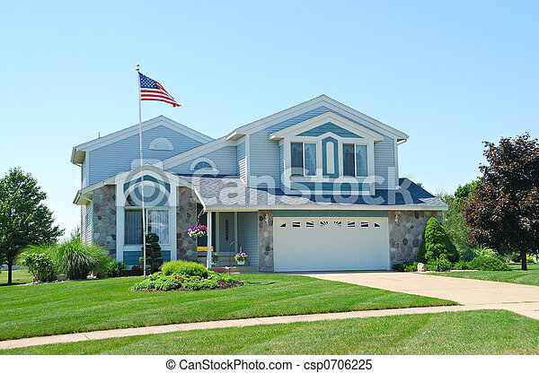 Residential Upscale American House - csp0706225