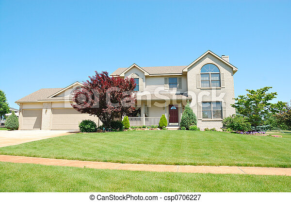 Residential Upscale American House - csp0706227