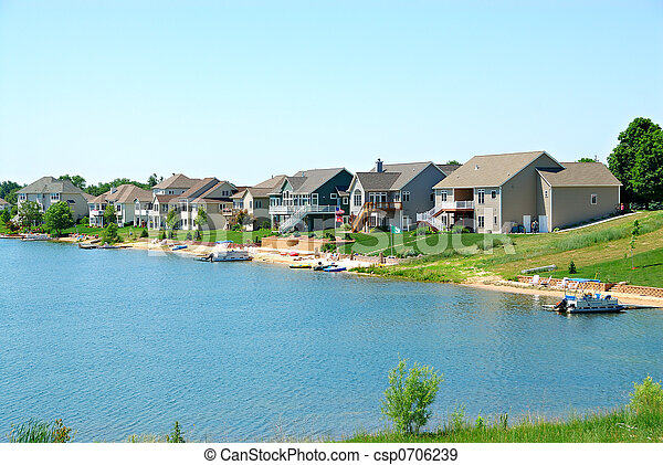 Residential Upscale Lakeside Community - csp0706239