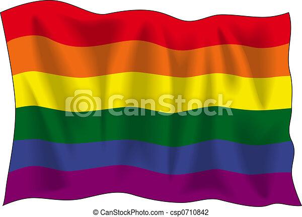 Gay pride flag - csp0710842