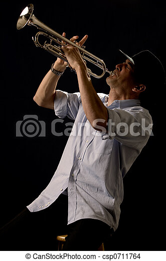 Playing the trumpet - csp0711764