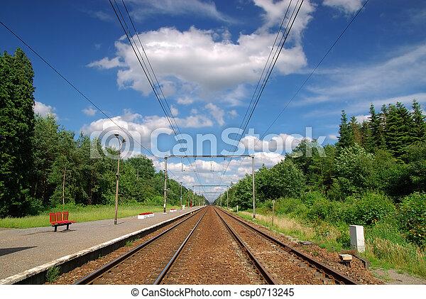 Railroad tracks - csp0713245