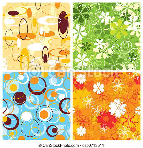 Retro pattern, seamless, vector - csp0713511