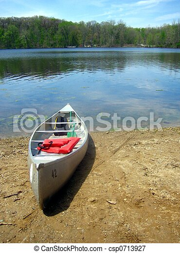 Lakeside Canoe - csp0713927