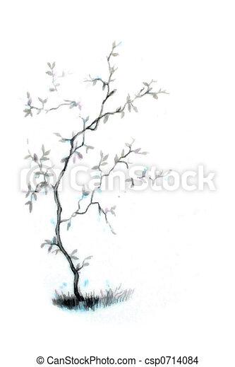 Japonaise Arbre Illustratio 0714084