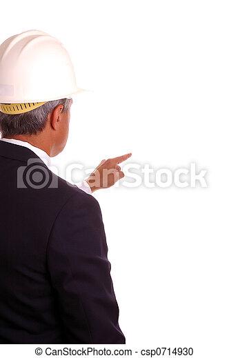 Businessman in Hardhat - csp0714930