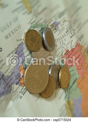 Latin American currency  - csp0715024
