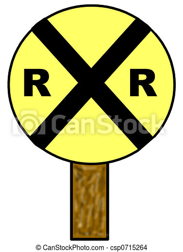 Railroad Crossing Sign - csp0715264