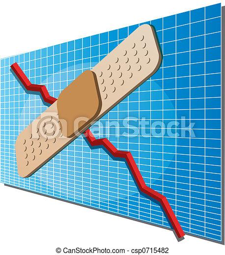 Finance chart with bandaid - csp0715482
