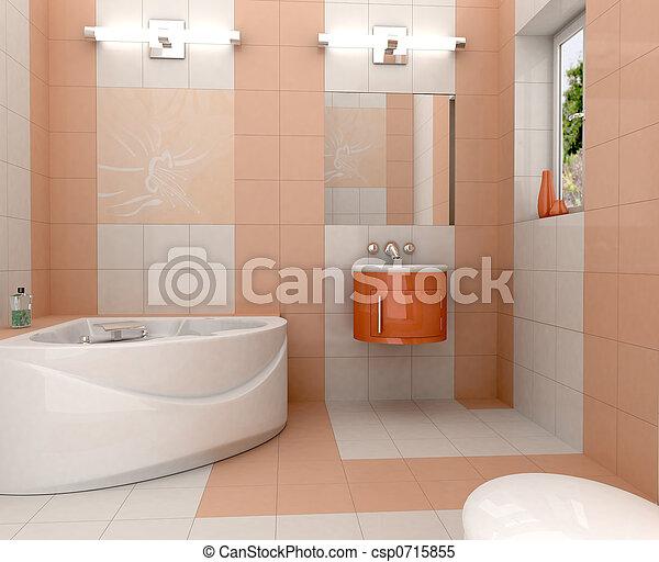 modern, fürdőszoba - csp0715855