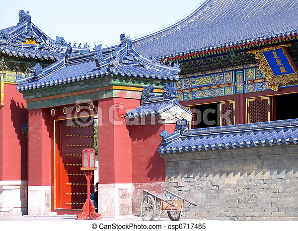 Beautiful China, Pagoda at Temple of Heaven - csp0717485
