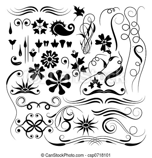 Elements for design, brush, vector - csp0718101