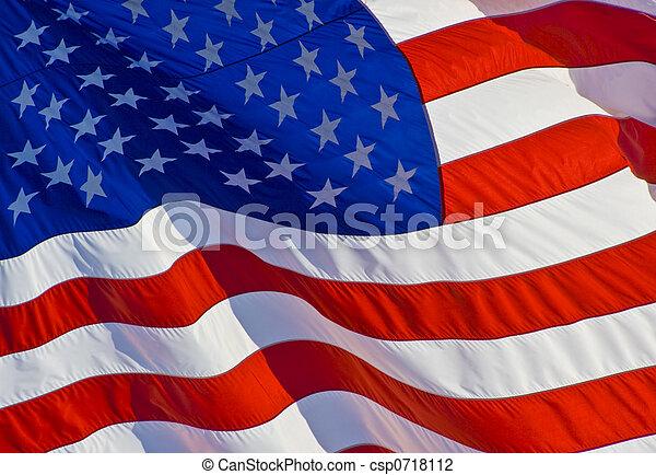 Tilted US Flag - csp0718112