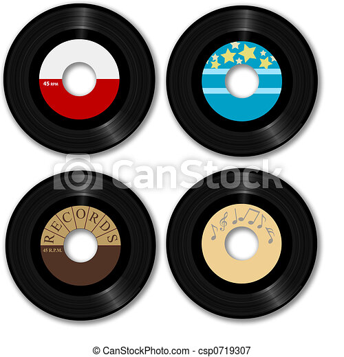 Retro 45 RPM Record - csp0719307