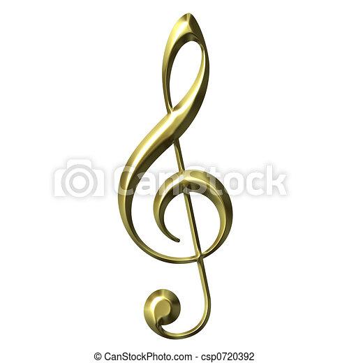 Clip Art Treble Clef Clip Art treble clef stock illustrations 8319 clip art images 3d golden clef