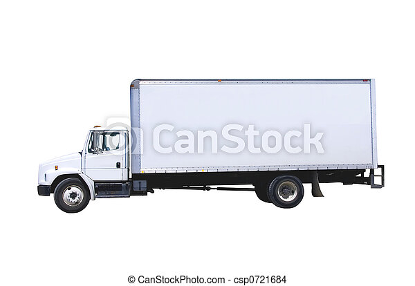 White Delivery Truck isolated  - csp0721684
