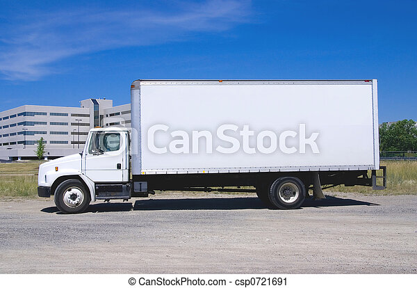 White Delivery Truck - csp0721691