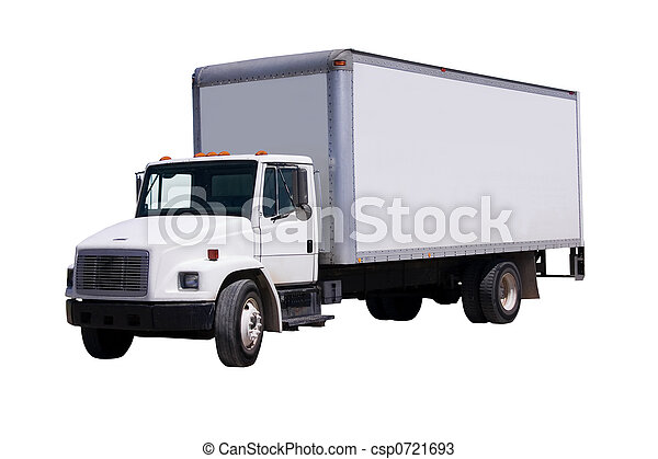 White Delivery Truck isolaated - csp0721693
