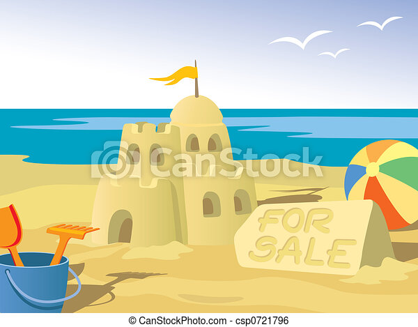 Stock Illustration - Sandcastle - stock illustration  royalty free    Sandcastle Icon
