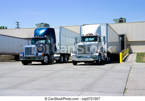 Trucks Loading - csp0721907