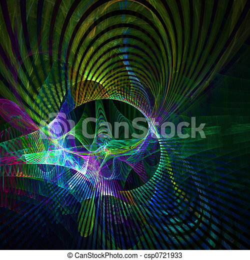Multi Colored Curves - csp0721933