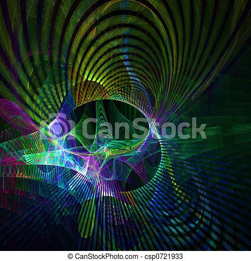 Multi Colored Curves - csp0721933
