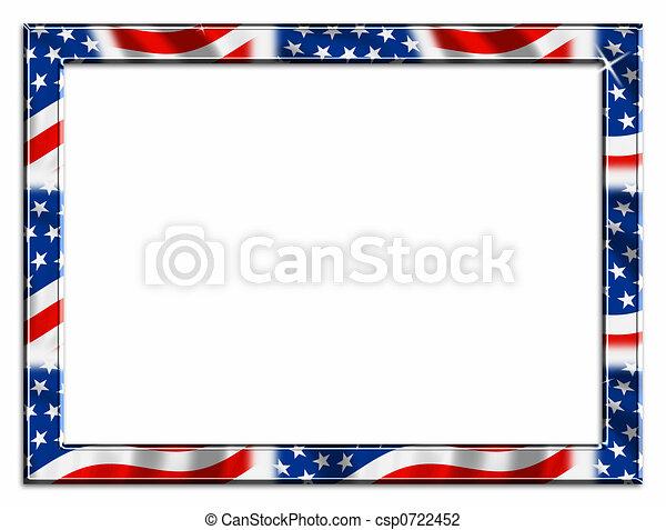 Patriotic Border - csp0722452