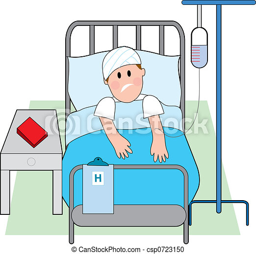 Man in Hospital Bed - csp0723150