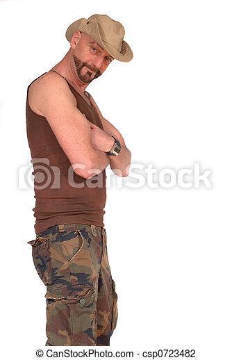 man, military lifestyle - csp0723482