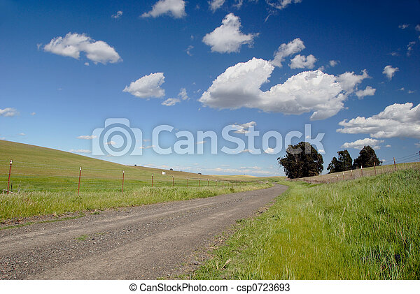 One Lane Gravel Road - csp0723693