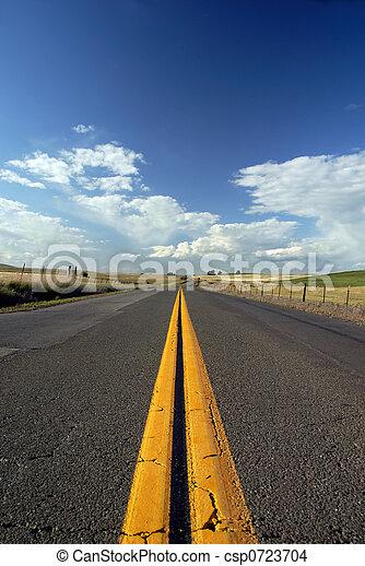 Rural Two Lane Road - csp0723704