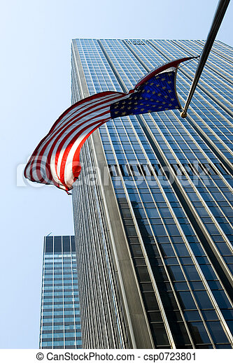 American flag flying - csp0723801
