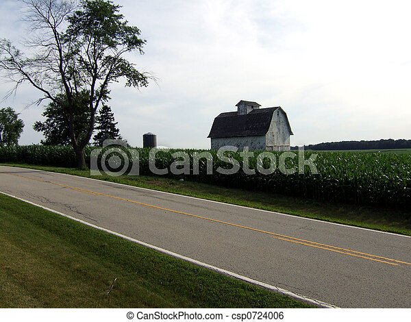 Barn by country road - csp0724006
