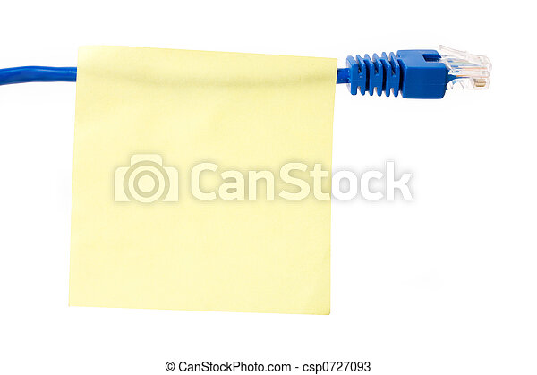 Network cable and notepaper - csp0727093
