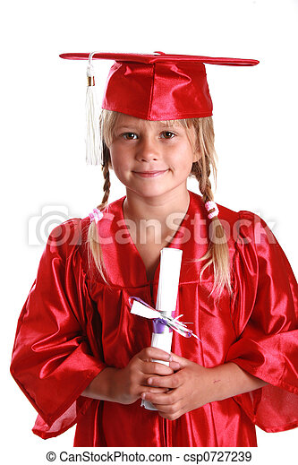 adorable graduation kid - csp0727239