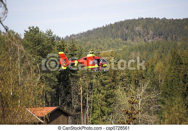Rescue Chopper Hover - csp0728561