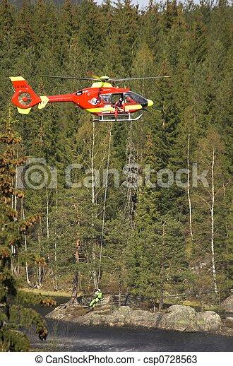 Rescue Chopper Hover - csp0728563