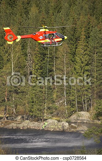 Rescue Chopper Hover - csp0728564