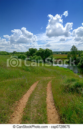 Serene rural landscape - csp0728675